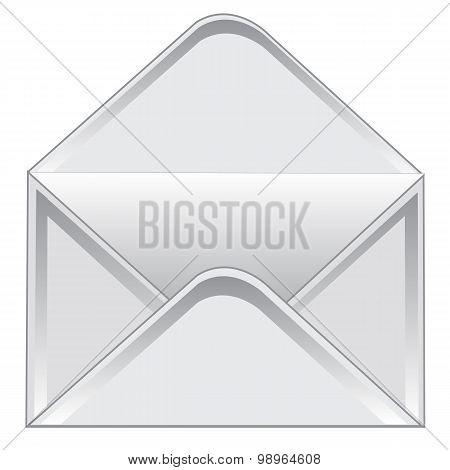Empty postal envelope