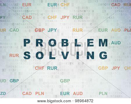 Finance concept: Problem Solving on Digital Paper background