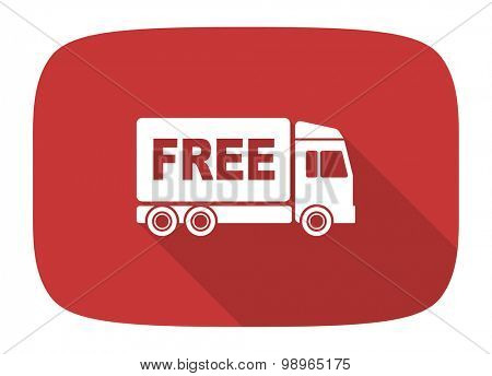free delivery flat design modern icon with long shadow for web and mobile app