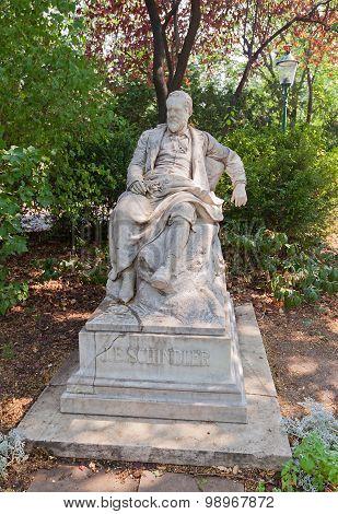 Monument To Emil Schindler (1895) In Vienna, Austria
