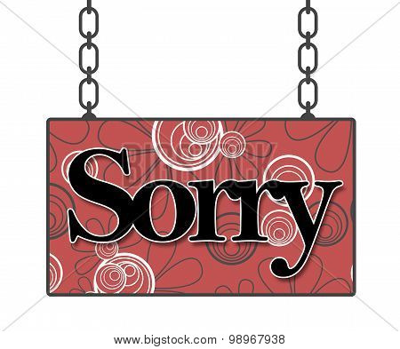 Sorry Floral Background Signboard