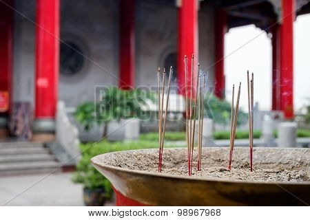 Incense Sticks In The Incense Burner