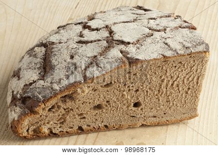Piece of healthy traditional German Sourdough bread
