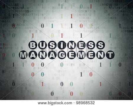 Business concept: Business Management on Digital Paper background