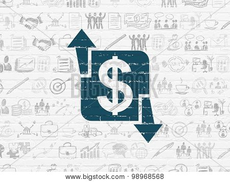 Finance concept: Finance on wall background