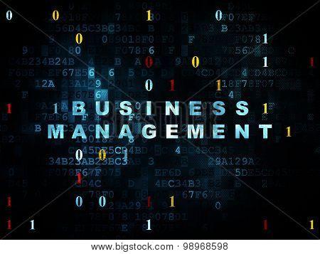 Business concept: Business Management on Digital background