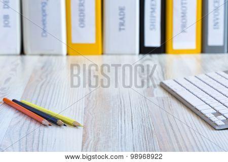 Desk of creative person