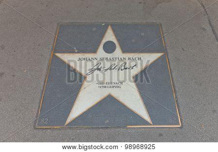 Star Of Johann Sebastian Bach In Vienna, Austria