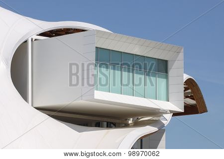 Details of museum Centre Pompidou in Metz, France