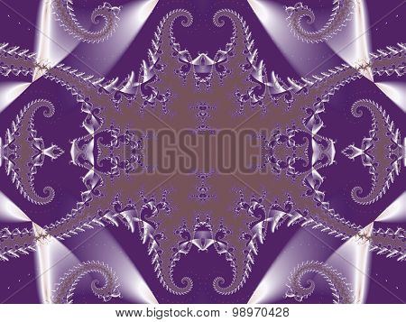 Fabulous Background. Satin Pattern With Spirals. Artwork For Creative Design, Art And Entertainment.