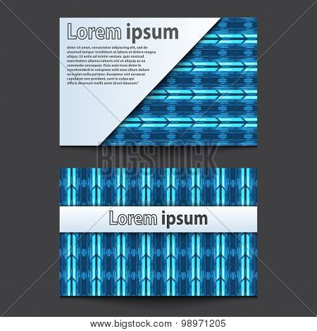 Business Card Design Neon Blue