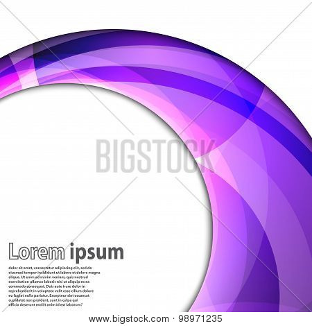 Abstract Swirl Energy Violet Circle
