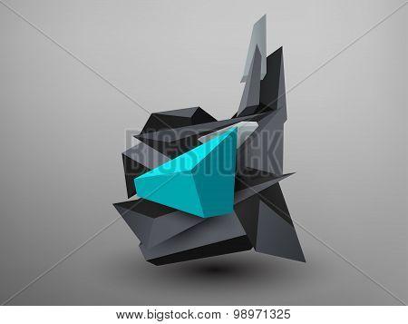 3D Prism Font - D
