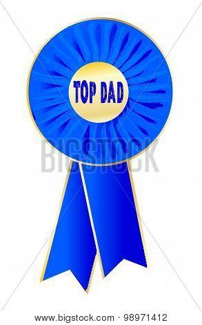 Top Dad Rosette