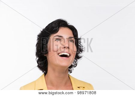 Adult laughing woman