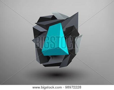 3D Prism Font - O