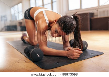 Young Woman Relaxing After Workout