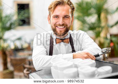 Barista portrait