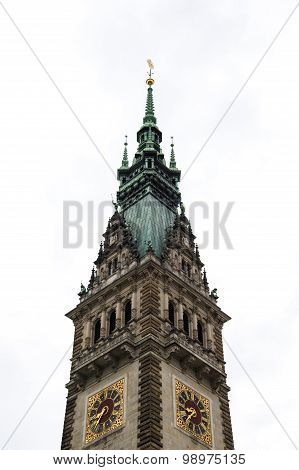 Hamburg Rathaus Steeple