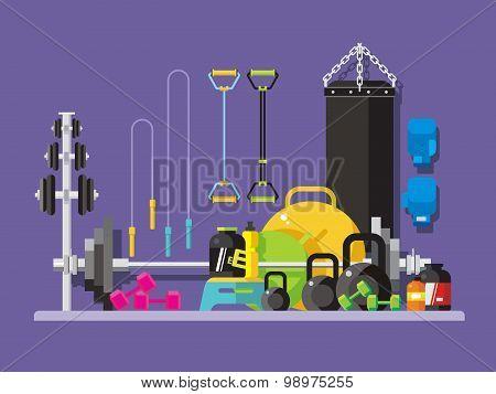 Gym flat style