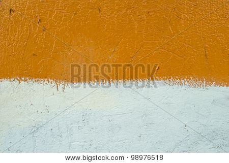 chipped paint on corrugated metal siding texture background