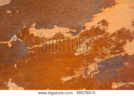 rusted corrugated sheet metal siding texture background