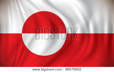 Flag of Greenland - vector illustration
