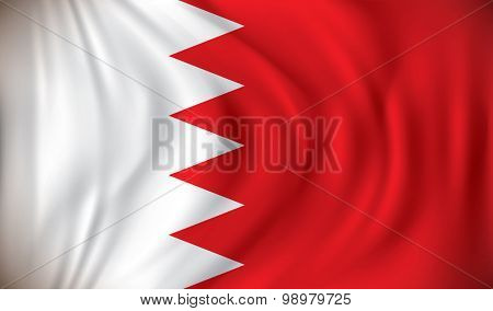 Flag of Bahrain - vector illustration