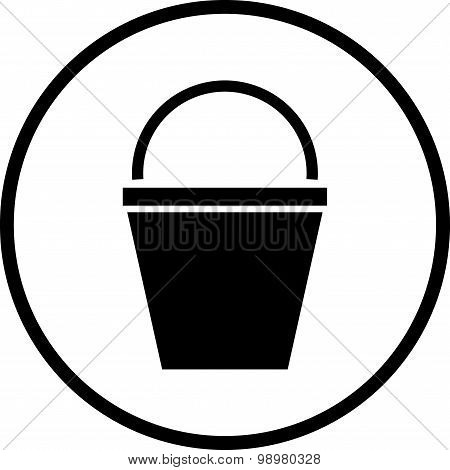 Vector Bucket Illustration Isolated On White
