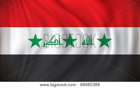 Flag of Iraq - vector illustration
