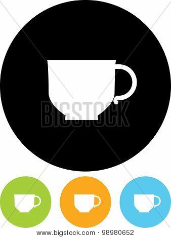 Vector Cup Illustration Isolated On White Background