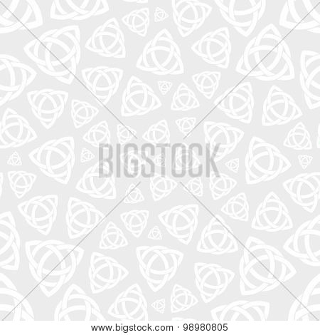 Seamless Celtic Trinity Knot Wallpaper. Seamless background pattern with celtic trinity knot symbol vector illustration