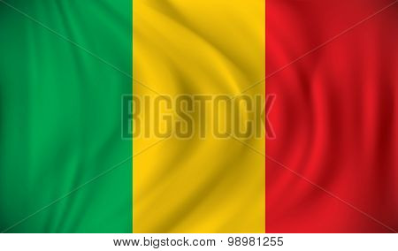Flag of Mali - vector illustration