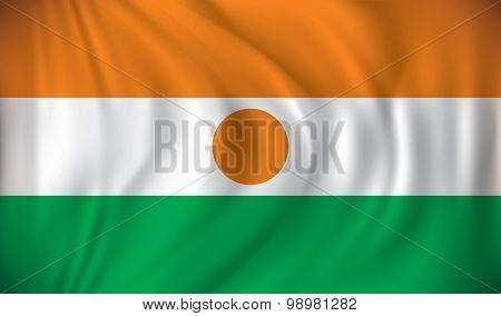 Flag of Niger - vector illustration
