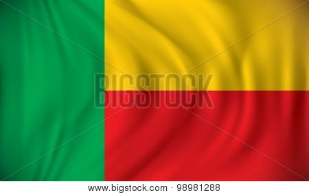 Flag of Benin - vector illustration