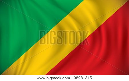 Flag of Republic of Congo - vector illustration