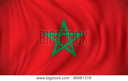 Flag of Morocco - vector illustration