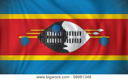 Flag of Swaziland - vector illustration