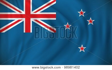 Flag of New Zealand - vector illustration