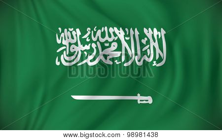 Flag of Saudi Arabia - vector illustration