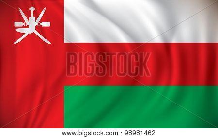 Flag of Oman - vector illustration