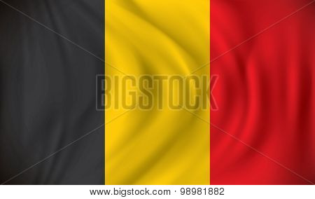 Flag of Belgium - vector illustration