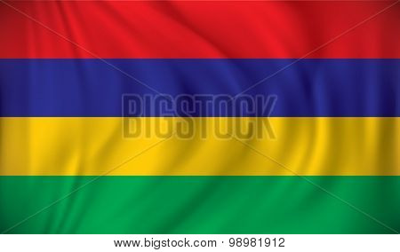 Flag of Mauritius - vector illustration