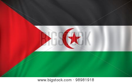 Flag of Western Sahara - vector illustration