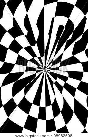 Guitar Optical Illusion Vector Illustration