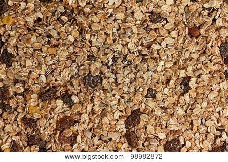 Dry muesli from above