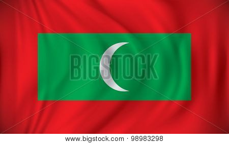 Flag of Maldives - vector illustration
