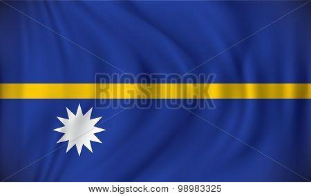 Flag of Nauru - vector illustration