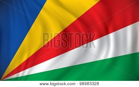 Flag of Seychelles - vector illustration
