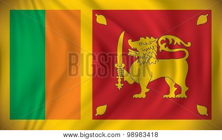 Flag of Sri Lanka - vector illustration
